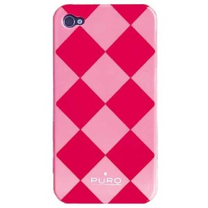 Puro Rhomby Case for iPhone 4 / 4S - pink
