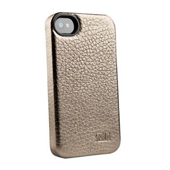 Snap-on Leather Case for iPhone 4/4S