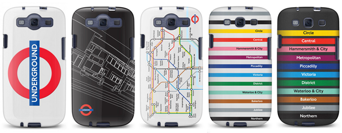 Galaxy S3 cases from Cynett with London underground motifs