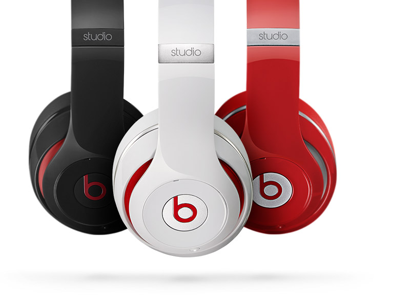 Thee color version of Stereo Beats headphones