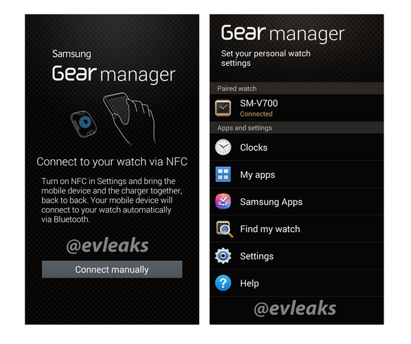 Smartwatch Companion App for smartphones Gear manager
