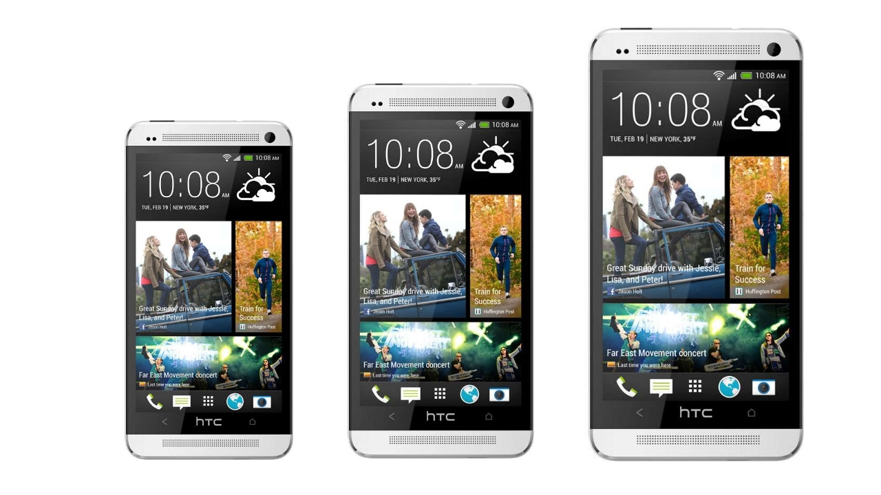 HTC One and HTC One Mini will soon come in bigger size?