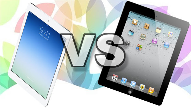 Comparing ipad Air and ipad 4