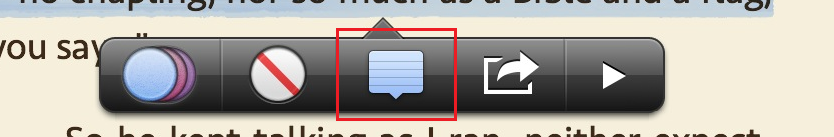 Add a note option in iBooks