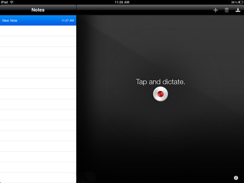 Use the Dragon Dictation app on your iPad