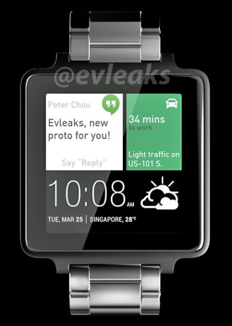An Artist's Reproduction of the HTC Smartwatch