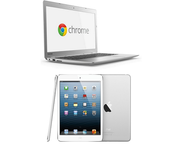 Google Chromebooks and Apple iPads