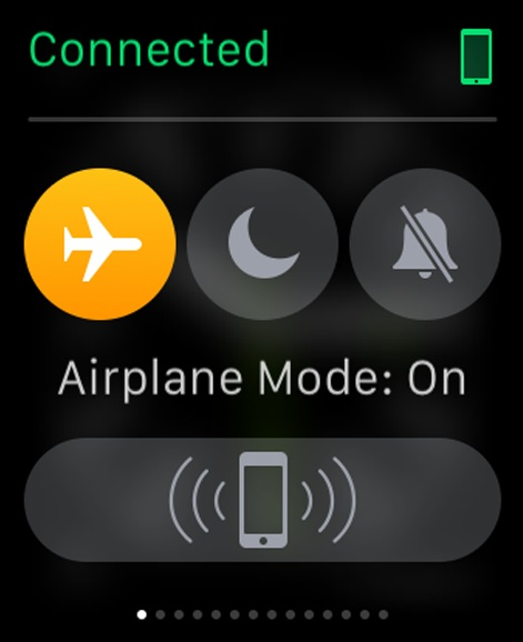 Airplane mode re-enabled on Apple Watch