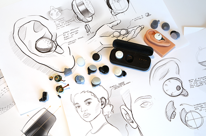 The Here earbuds design
